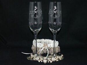 Wedding-Bells-Laser-Etched-Champagne-Glasses-Toasting-Flutes-Set-2-Bride-amp-Groom