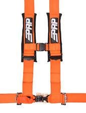 "PRP 4 Point Harness 3"" Pads Seat Belt SINGLE ORANGE Polaris RZR XP Turbo 1000"