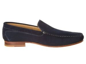 Mens Suede Leather Loafers with Leather