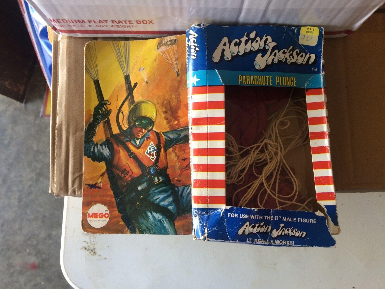 venta al por mayor barato Vintage Vintage Vintage década de 1970 Raro Acción Jackson paracaídas inmersión en Caja Original Mego  edición limitada