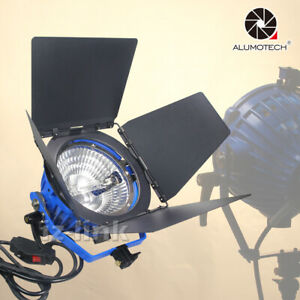 Tungsten 2000W 220V Light+UV Protection Glass+Bulb+Barndoor Studio Photography