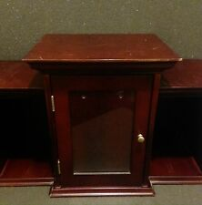 Large Wooden Organizer Shelf Cabinet Curio Glass Display Shadow Box Case Wood