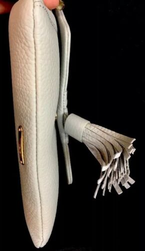 Pebbled Tassel Gigi Size Snap Gray Purse Small Leather New Clutch Dove hQdCxosrBt