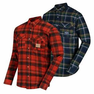 Regatta Mens Tyrus Fleece Lined Long Sleeved Lumberjack Shirt Check