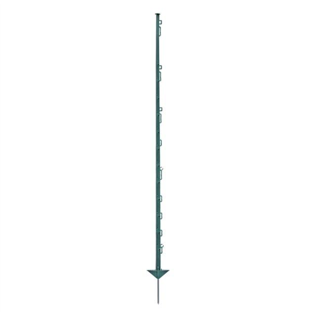 Weidezaunpfähle Pfahl Weide Kunststoffpfähle Zaun Koppelpfahl grün weiß schwarz