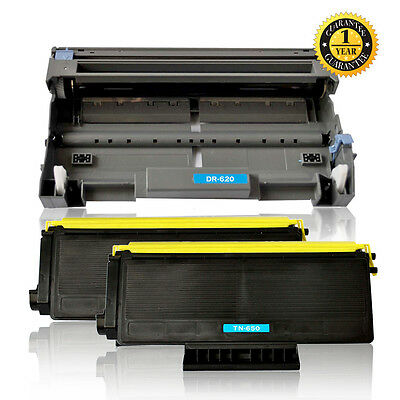 2PK TN650 Toner Cartridge 1PK DR620 Drum For Brother MFC-8870DW MFC-8480DN 8890D