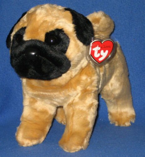 TY CLASSIC PLUSH DAX the PUG DOG MINT with MINT TAGS