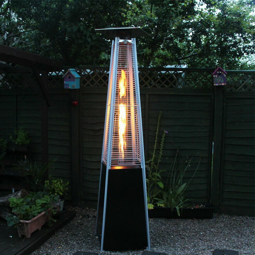 New Garden Deck Pyramid Patio Gas Heater 13kw Propane Flame Summer UK Restaurant