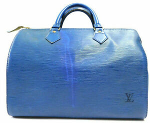 Louis-Vuitton-Epi-Speedy-30-Doctor-Mini-Boston-Gym-Hand-bag-Blue-Auth