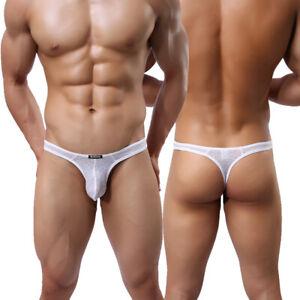 Mens-Sexy-Underwear-Thongs-Briefs-Jock-Strap-G-string-Pouch-Bikini-Underpants