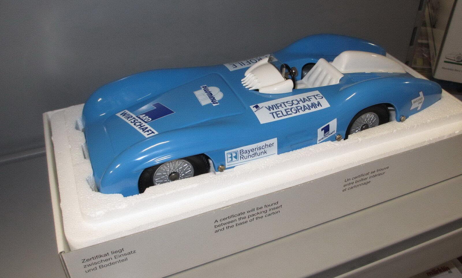 Märklin métal 1947-Mercedes voiture de course Bleu Bavière Radio