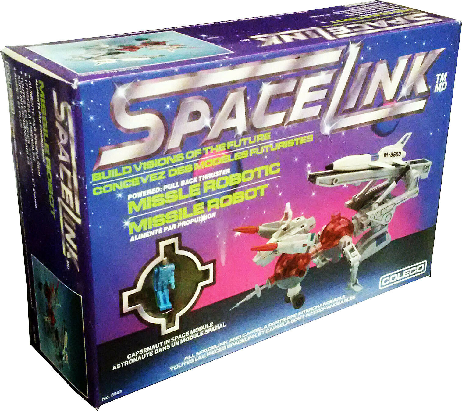 Capsela SpaceLink™ Missile Robotic, Jahr 1986, Collectible. ...  New  MISB