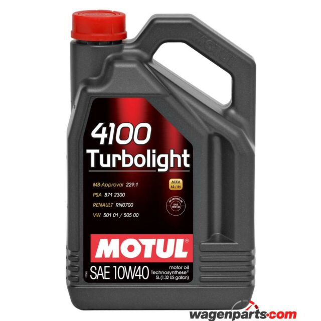 Aceite Motor Motul 4100 Turbolight 10W40, 5 litro