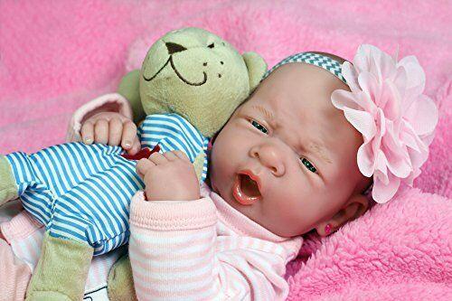 Reborn Realistic Preemie Washable Baby Girl Doll Berenguer Lifelike Newborn