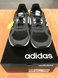 new products 28e0a c4e6e Details about Adidas Men's Run 80S Athletic Shoes, Sneakers, Black & White,  Authentic Size 9.5