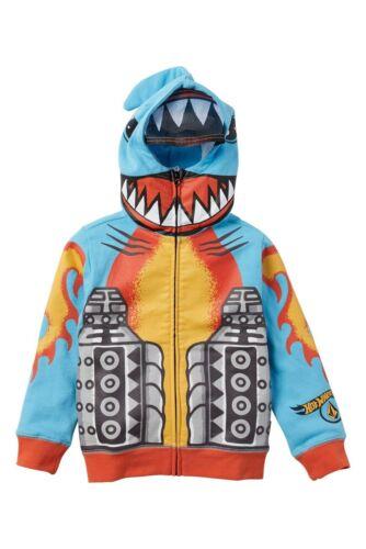 Volcom Toddler Boy/'s Hot Wheels Hooded Zip Sweatshirt Shark Cruiser 2T 3T 4T NWT