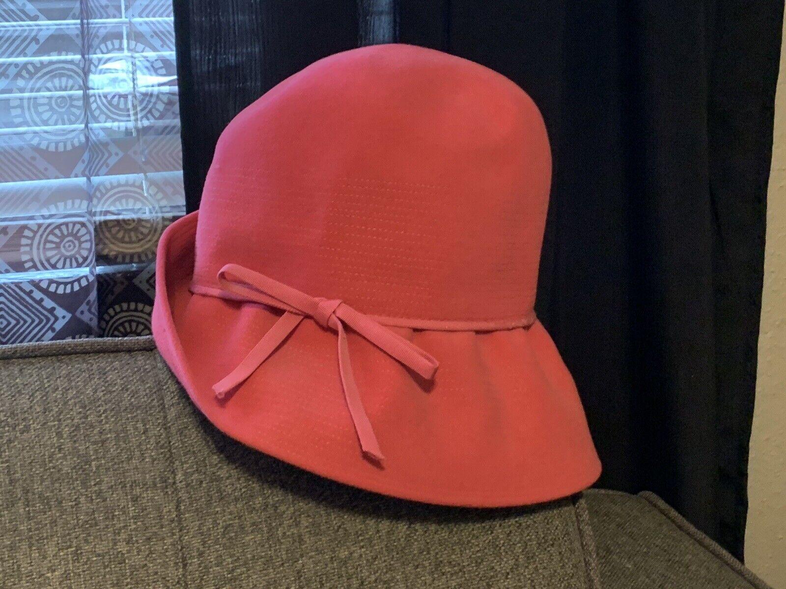 CHRISTIAN DIOR VINTAGE PINK BUCKET STYLE HAT - image 3