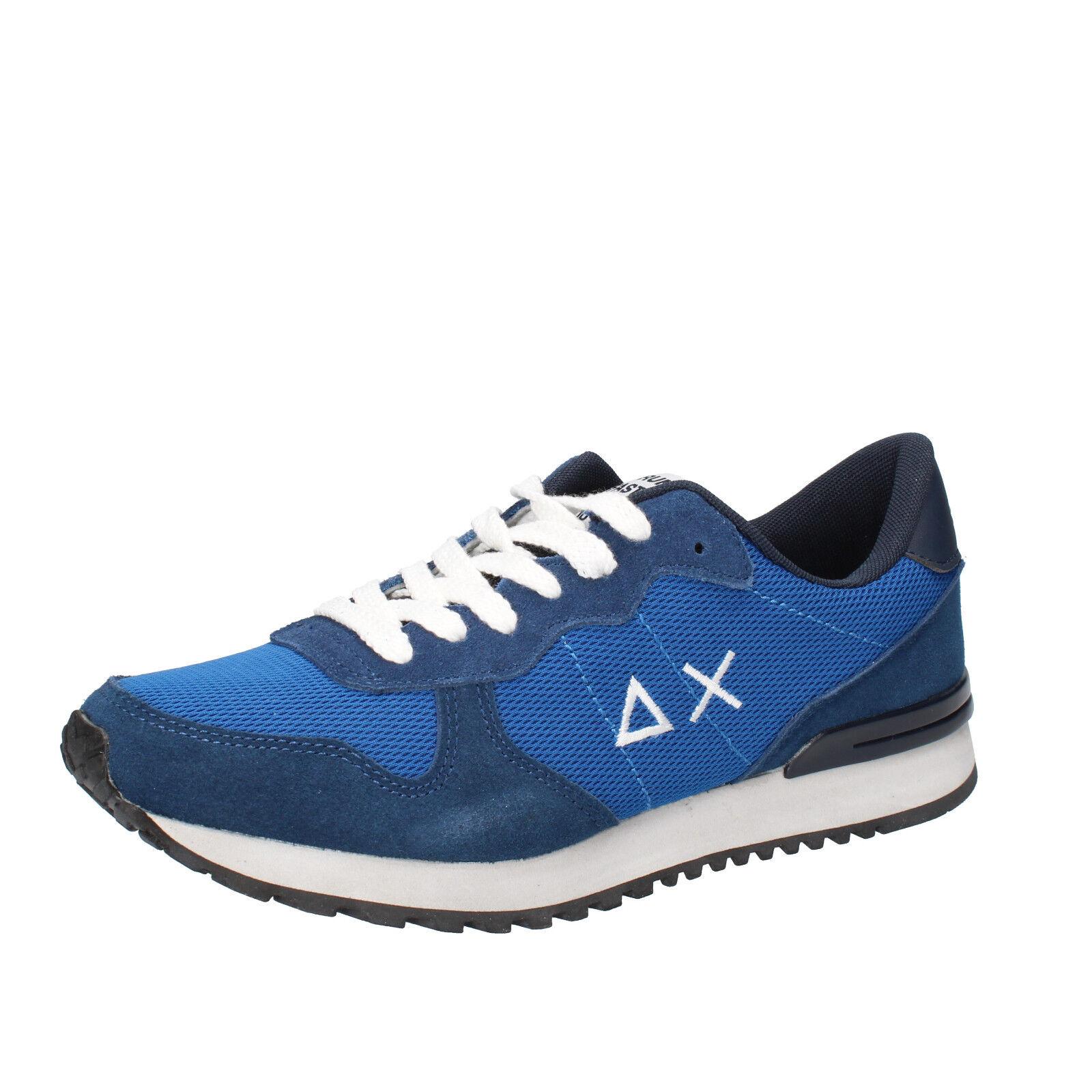 men's shoes SUN 68 8 () sneakers blue textile suede AB797-C
