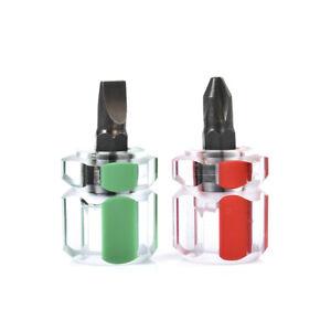 2pcs-Set-MINI-SHORT-Stubby-utile-a-fessura-Cacciavite-Utensili-Kit-Set-Nuovo
