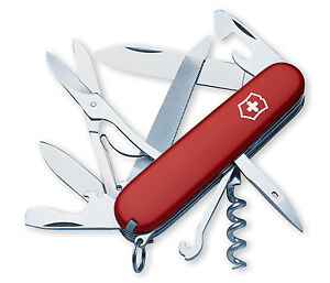 New Victorinox Swiss Army Pocket Knife Mountaineer Red