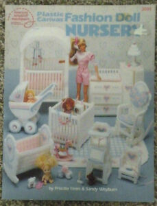 Barbie Fashion Doll Plastic Canvas Craft Pattern Furniture