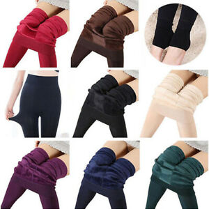 Women-Winter-Thermal-Thick-Warm-Fleece-Lined-Stretch-Pants-Sexy-Slim-Leggings