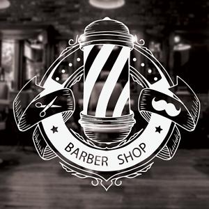 Barber Shop Sign Barber Shop Window Decal Barber Shop