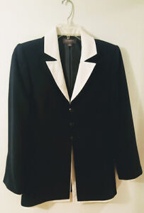 Women-s-Liz-Claiborne-Black-Pants-Suit-Size-8