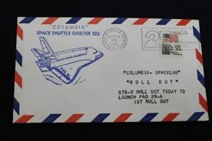 Raum-Abdeckung-1983-Slogan-Stempel-STS-9-Columbia-1ST-Ausrollen-Vab-zu-Pad-39A