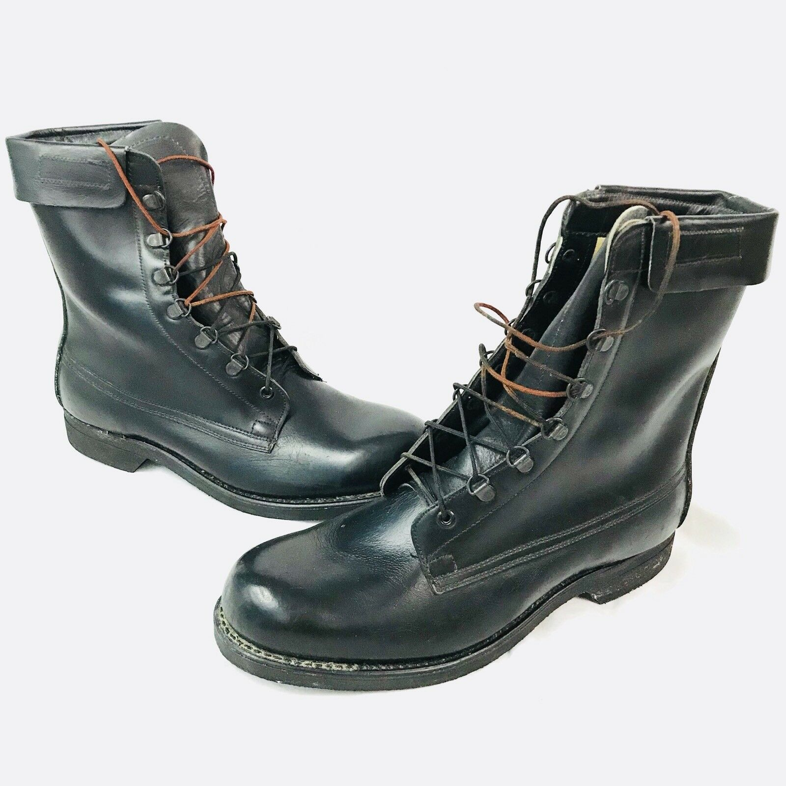 botas de combate Addison Combate Negro Vintage 9.5 E
