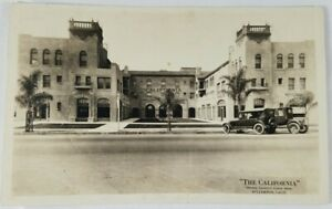 Vintage-Real-Photo-Post-Card-034-The-California-034-Orange-Co-Finest-Hotel-AZO-1900-039-s