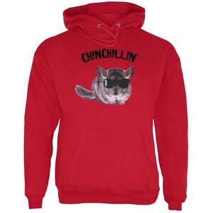 Felpa per Chinchillin Chinchilla cappuccio con Red adulti vrgRwvq