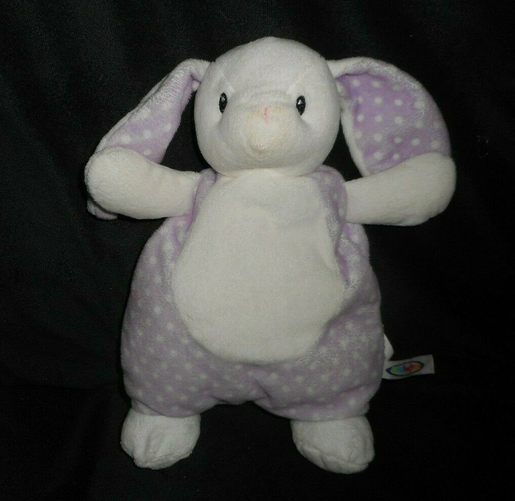 12  MARY MEYER BABY PURPLE BUNNY RABBIT SECURITY BLANKET STUFFED ANIMAL PLUSH