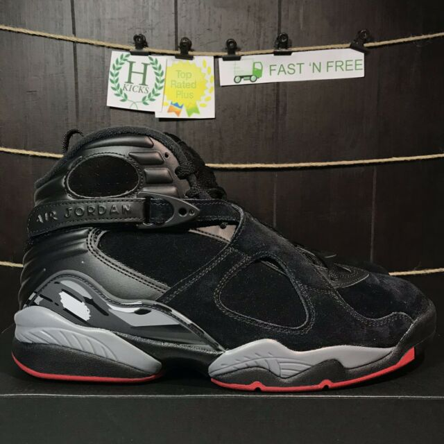 new styles 285a7 58526 Nike Air Jordan 8 Retro Basketball Men Size 10 Black Red Bred Playoff  305381 022