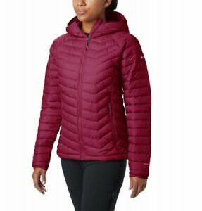 Details about Columbia Powder Lite Hooded Jacket Women Ladies Outdoor Jacket Ladies Red show original title