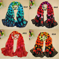 Women Chiffon Scarf Stunning Soft Gradient Color Shawl Pashmina Wrap Polka Dot s