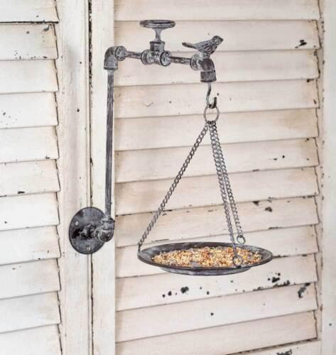 Weathered Farmhouse Garden Spigot Bird Feeder