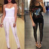 Women Hole Fashion Ripped Distressed Slim Denim Pants Boyfriend Jeans Trousers