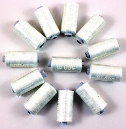 Tissage blanc 24 rôles par 500m fils syngarn 100/% polyester tout plus près les fils 026