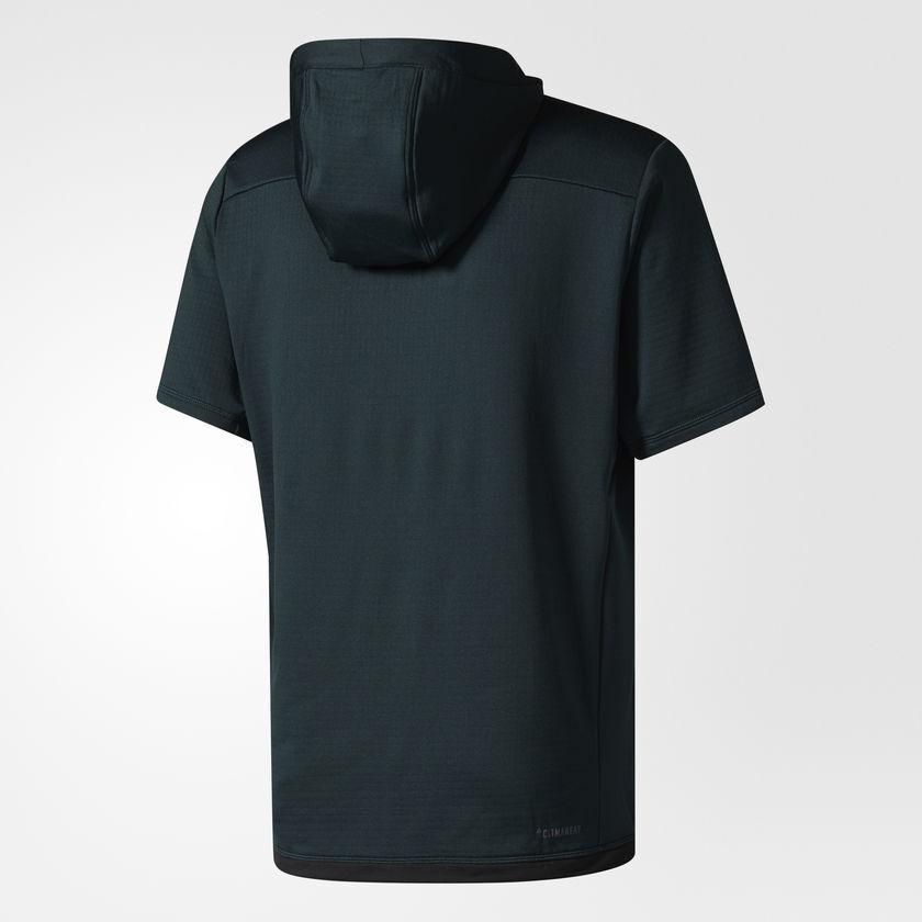 ADIDAS Da Uomo Allenamento Climaheat Pullover Pullover Pullover Felpa Con Cappuccio Allenamento Top verde Piccolo B242 993c8b