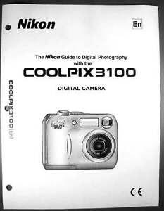 nikon coolpix 3100 digital camera user guide instruction manual ebay rh ebay com Nikon Coolpix P80 Manual nikon coolpix p80 user manual