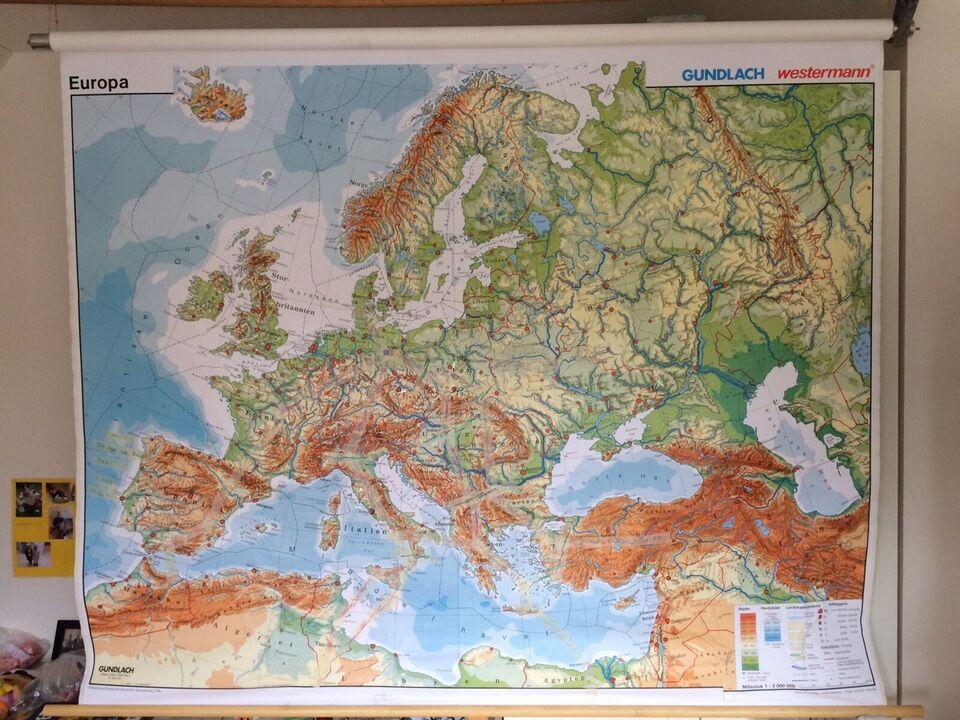 Skolekort, Skolekort, motiv: Europakort