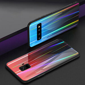 For-Samsung-Galaxy-S10-Plus-S10e-Note-9-S8-Luxury-Glass-Back-Case-Hybrid-Cover