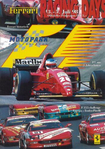 1998 FERRARI Motopark oscherleben Racing Days prospetto brochure tedesco