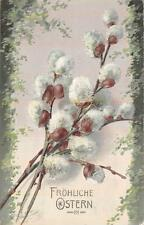 WEAPING WILLOW EASTER HOLIDAY ST. GALLEN SWITZERLAND TO USA POSTCARD 1907