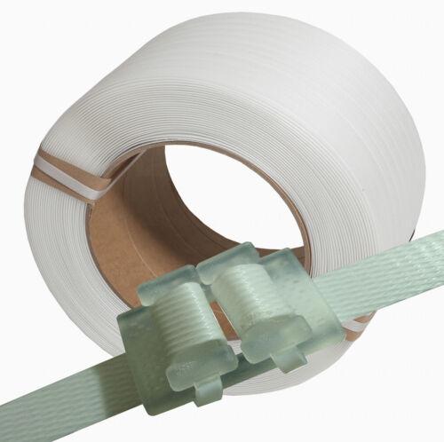 Umreifungsset 16 mm.Umreifungsband.Verschlussklemmen.Kunststoffklemmen.Umreifung