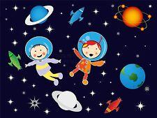 ART PRINT POSTER NURSERY ASTRONAUTS PLANETS STARS KIDS BEDROOM LFMP0780