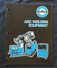 1980 Miller Arc Welding Welder Sales Full Line Catalog Nice Shape