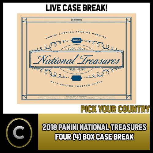 BREAK #S015 PICK YOUR COUNTRY CASE 2018 PANINI NATIONAL TREASURES SOCCER 4 BOX