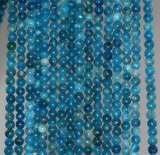 3-4MM APATITE GEMSTONE GRADE A  ROUND 3-4MM LOOSE BEADS 15.5""